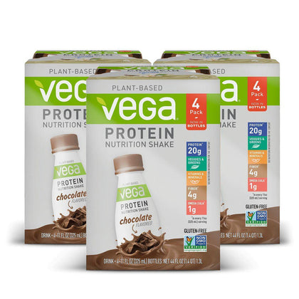 Vega® Protein Nutrition Shake - Chocolate - 12 Bottles