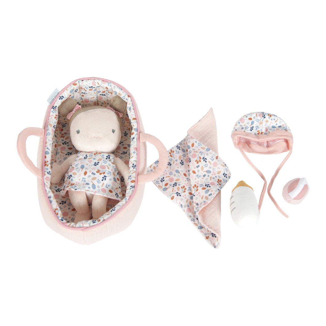 Baby Doll Nukke Rosa ja Kantokassi | Little Dutch