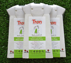 Tron Flat Packed Disposable Travel Potty 3 Pack