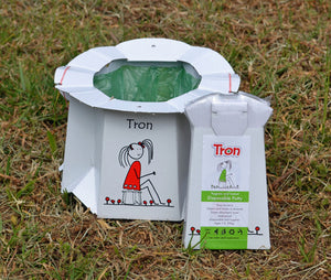 Tron Flat Packed Disposable Travel Potty