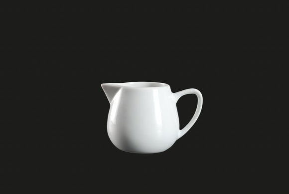 AW0065: Creamer 4 oz. White Chinaware Top View