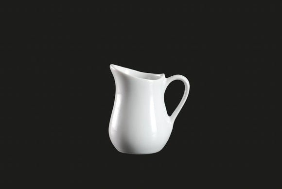 AW0066: Creamer 4 oz. White Chinaware Top View
