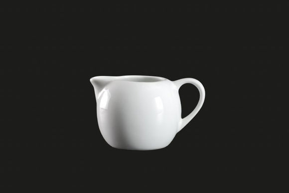 AW0067: Creamer 8 oz. White Chinaware Top View