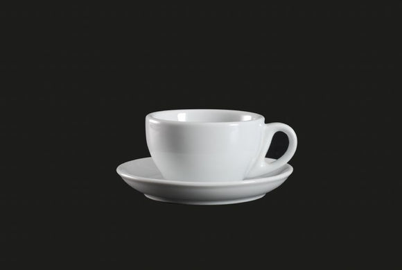 AW0072: Round Cup 7.5 oz. White Chinaware Top View