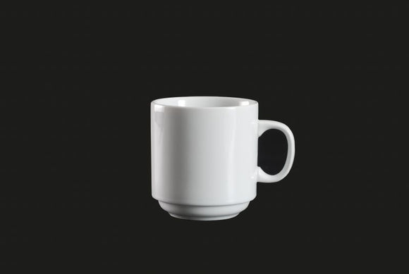 AW0081: Stackable Mug 11 oz. White Chinaware Top View