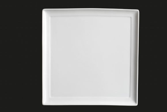 AW0364: 12.25 Square Plate White Chinaware Top View