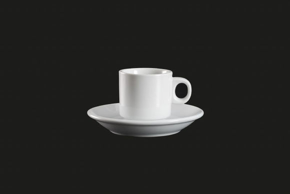 AW0836: Espresso Cup Stackable 3 oz. White Chinaware Top View