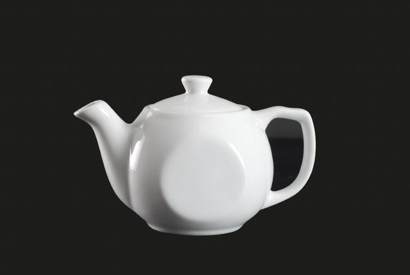 AW1398: Tea Pot 12 oz. White Chinaware Top View