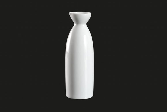 AW7304: Sake Bottle 8 oz. White Chinaware Top View