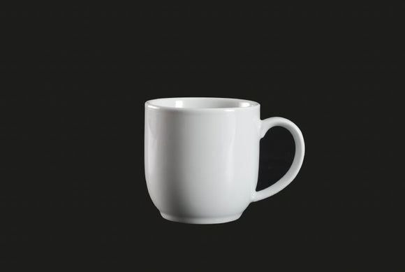 AW8004: Mug 11 oz. White Chinaware Top View