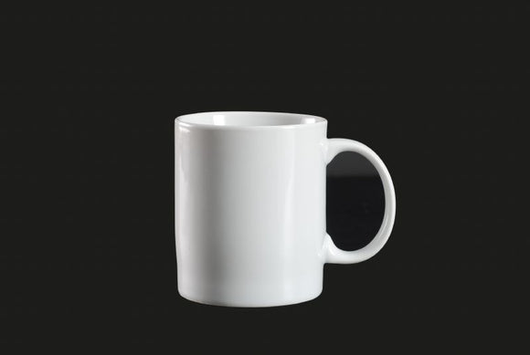 AW8006: C Handle Mug 10.5 oz. White Chinaware Top View