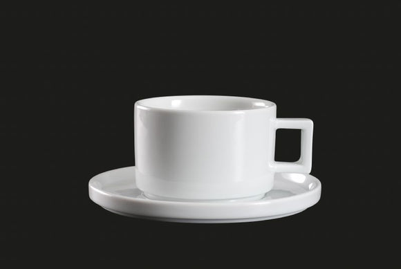 AW8704: Stackable Cup 8 oz. White Chinaware Top View