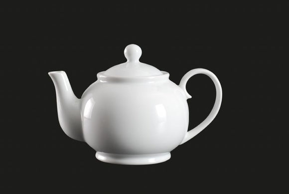 AW8740: Tea Pot 20 oz. White Chinaware Top View