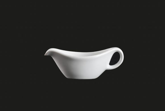 AW9125: Gravy Boat 3 oz. White Chinaware Top View