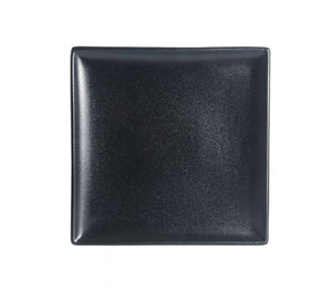 "BK0044: 8.5"" Square Plate Black Chinaware Top View"