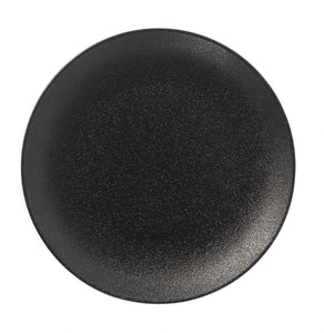 "BK0082: 11"" Round Coupe late Black Chinaware Top View"