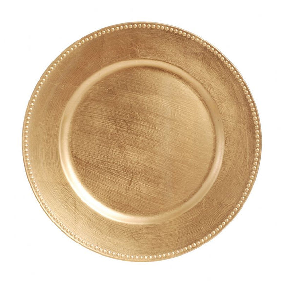 CP4012: Gold Beaded Charger Plate 13