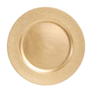 "CP4016: 13"" Gold Mosaic Charger Mix Top View"