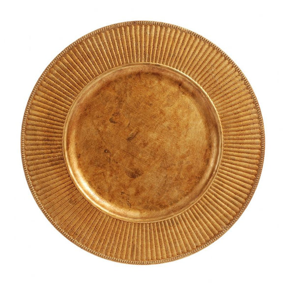 CP5130: Antique Gold Rdiant Charger Plate 13
