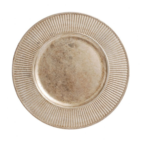 CP5132: Antique Silver Radiant Charger Plate 13
