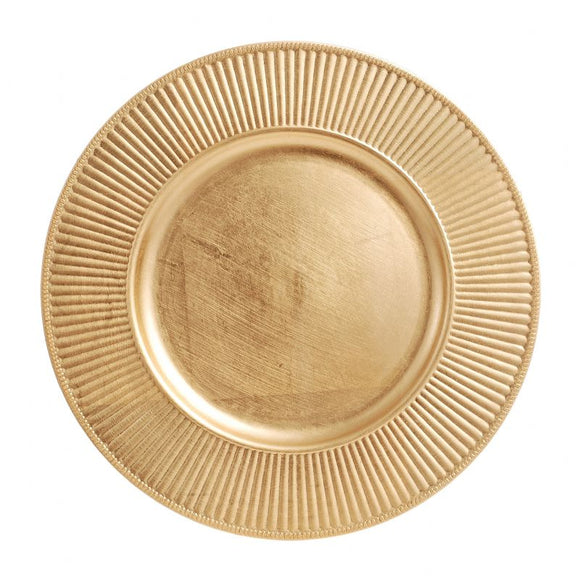 CP5134: Gold Rdiant Charger Plate 13
