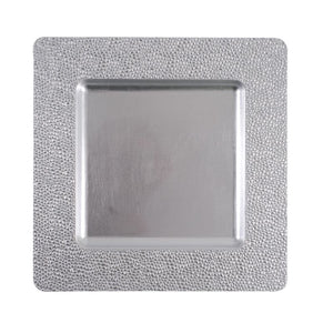 "CP5156: 13"" Silver Square Mosaic Charger Mix Top View"
