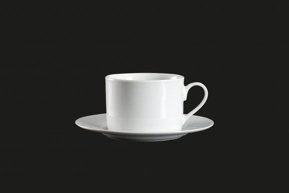 HP0154: Straight Cup 8 oz. White Top View