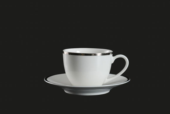 RF1043: Platinum Rim Cup and Saucer White Top View