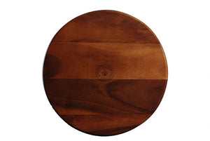 "WP0512: 15.75"" Lazy Susan Brown Top View"
