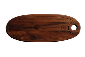 "WP0532: 26 x 9.75"" Oval Board Brown Top View"