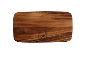 "WP0712: 14 x 7"" Rustic Oiled Board Brown Top View"