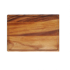 "WP0742: 13.75 x 10"" Steak Board Brown Top View"