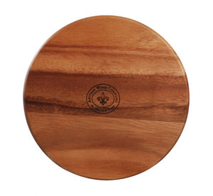 "WP0746: 12"" Round Board Brown Top View"