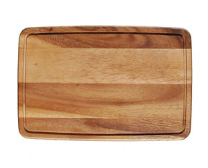 "WP0760: 13.75 x 9""Rectangular Board Brown Top View"