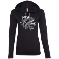 Black and White Raptor Ladies' Hoodie