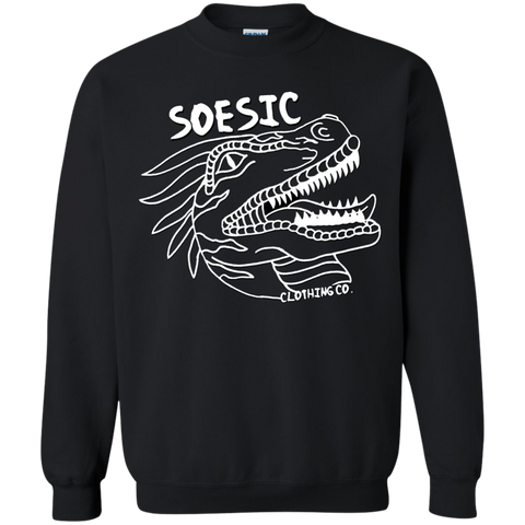 Soesic Raptor - White Raptor - Crewneck Sweatshirt-Soesic Gaming