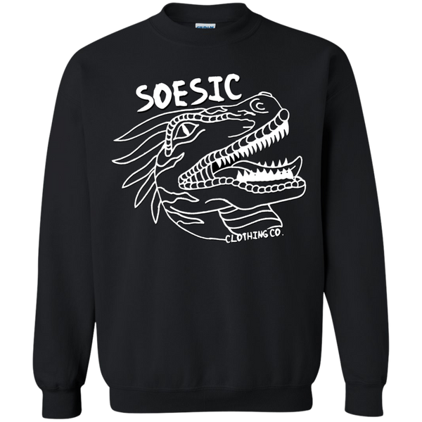 White on Black | Soesic Raptor Crewneck
