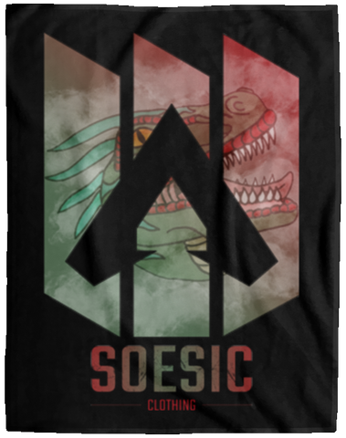 'Apex X Raptor' 60x80 Plush Fleece Blanket-Soesic Gaming