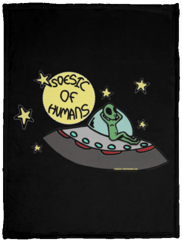 'Soesic of Humans' 30x40 Plush Fleece Blanket-Soesic Gaming