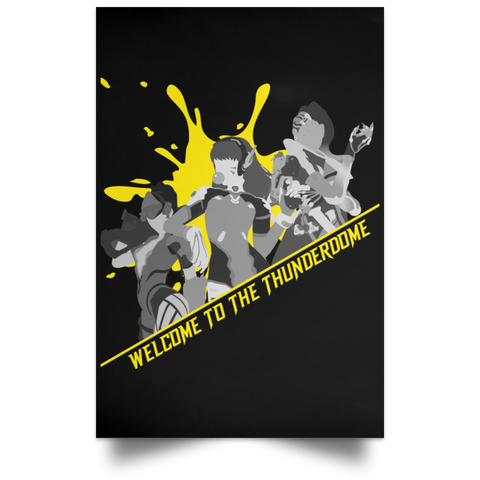 Yellow Splatter Thunderdome Poster ~ DemShenaniganss as a Featured Streamer for Soesic Gaming-Soesic Gaming