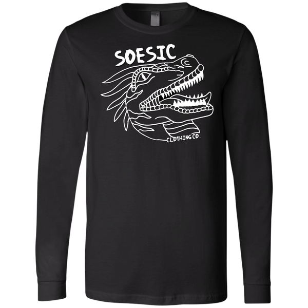 White on Black | Soesic Raptor LS T-Shirt