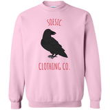 Dark Raven Crewneck Sweatshirt-Soesic Gaming