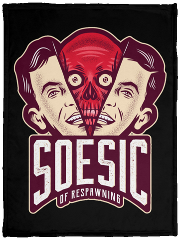 'Soesic of Respawning' 30x40 Plush Fleece Blanket-Soesic Gaming