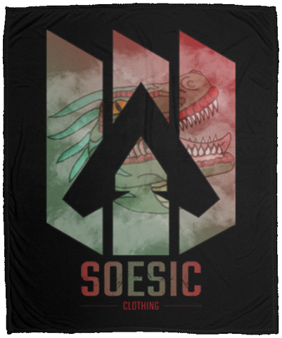 'Apex X Raptor' 50x60 Plush Fleece Blanket-Soesic Gaming