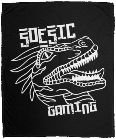 White Soesic Raptor 50x60 Plush Fleece Blanket-Soesic Gaming