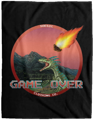 'Game Over' 60x80 Plush Fleece Blanket-Soesic Gaming