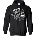 Soesic Raptor - White Raptor - Hoodie-Soesic Gaming
