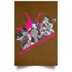 Thunderdome Magenta Splatter Poster ~ DemShenaniganss as a Featured Streamer for Soesic Gaming-Soesic Gaming