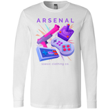 Retro Arsenal men's long sleeve gamer t shirt-Soesic Gaming