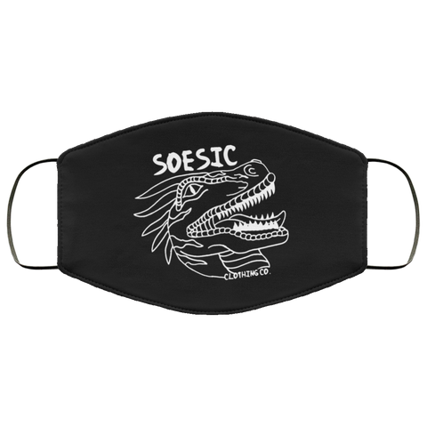 Soesic Raptor - White Raptor - Face Mask-Soesic Gaming